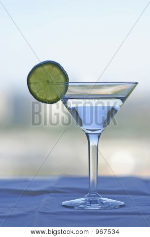 Martini Glass With Lime Slice