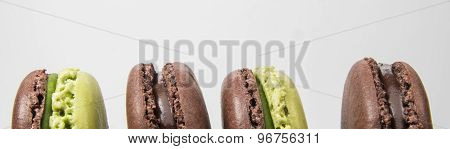 Macarons On The White Background