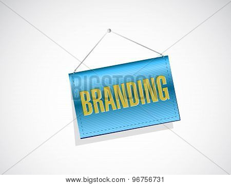 Branding Hanging Banner Sign Concept
