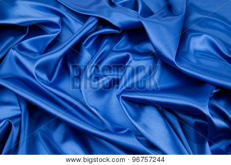 Blue silk background