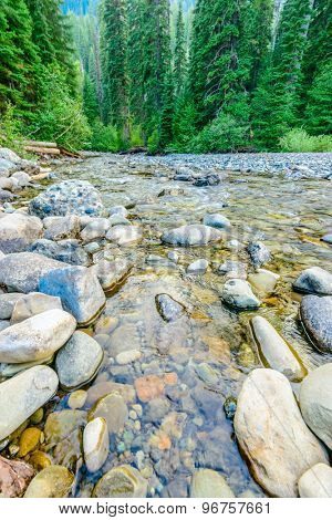 Majestic mountain river in Canada. Manning Park in British Columbia.