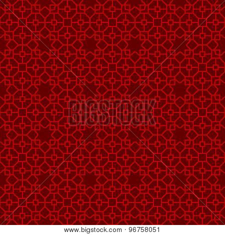 Seamless Chinese window tracery polygon star pattern background.