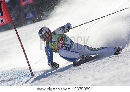 SOELDEN, AUSTRIA Oct 25 2009 SIMONCELLI Davide (ITA) competing in the mens giant slalom race at the Rettenbach Glacier.