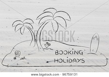 Desert Island With Text Booking Holidays