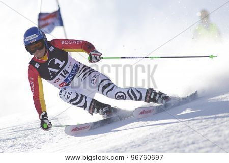 SOELDEN, AUSTRIA Oct 24 2009 REBENSBURG Viktoria (GER)  competing in the womens giant slalom race at the Rettenbach Glacier.