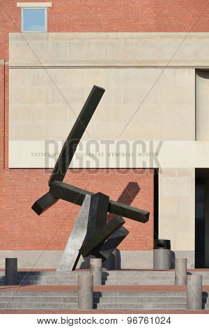 WASHINGTON D.C. - JUNE 26 2014: The United States Holocaust Memorial Museum West facade. The Museum is the United States' official memorial to the Holocaust