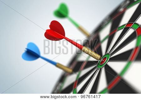 Darts Arrow In Bull's-eye