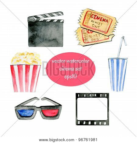 Watercolor Cinema Objects