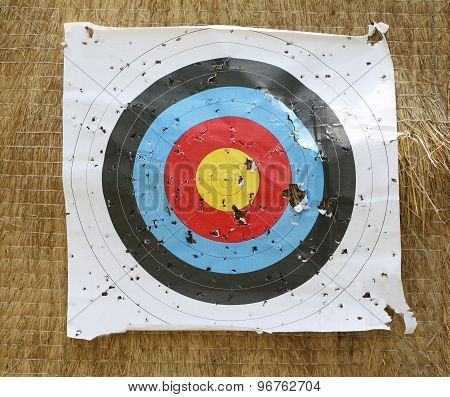 Close-up Of An Archery Target