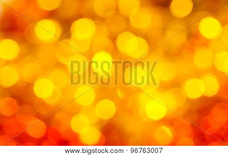 Yellow And Red Blurred Shimmering Xmas Lights
