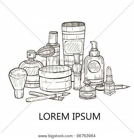 Make-up Products And Perfumes.