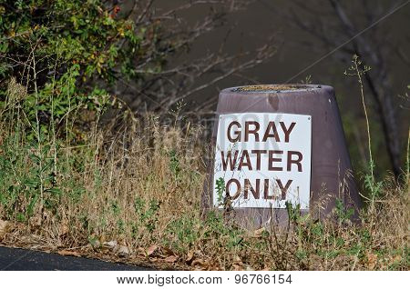 Gray Water Disposal Station At Summer Campground