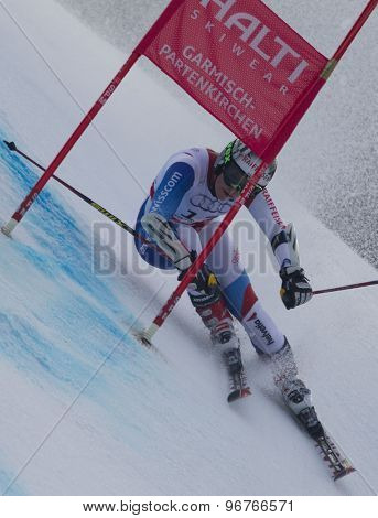 GARMISCH PARTENKIRCHEN, GERMANY. Feb 17 2011: GUT Lara (SUI) competing in the women's giant slalom  race  at the 2011 Alpine skiing World Championships