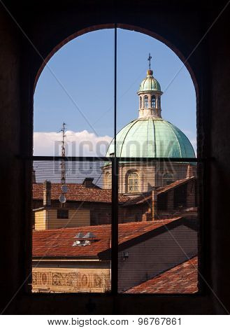 Vigevano's Dome From A Window
