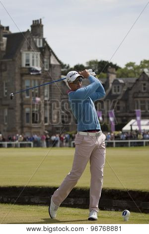 ST ANDREWS, SCOTLAND. July 18 2010: Henrik STENSON from Sweden in action during the final round of The Open Championship   played on The Royal and Ancient Old Course