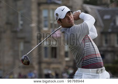 ST ANDREWS, SCOTLAND. July 18 2010: Paul CASEY from England in action during the final round of The Open Championship   played on The Royal and Ancient Old Course