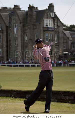 ST ANDREWS, SCOTLAND. July 18 2010: Martin KAYMER from Germany in action during the final round of The Open Championship   played on The Royal and Ancient Old Course