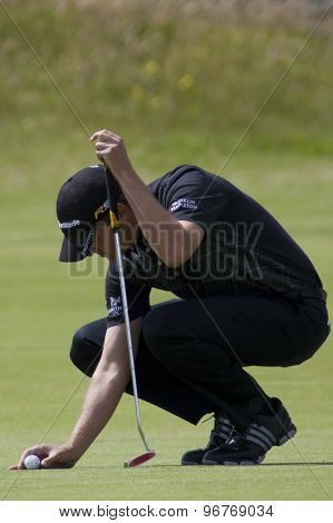 ST ANDREWS, SCOTLAND. July 18 2010: Sean O'HAIR from the USA in action during the final round of The Open Championship   played on The Royal and Ancient Old Course