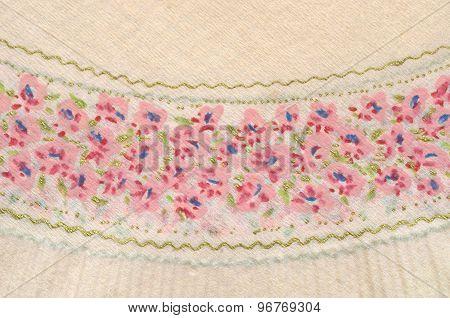 Beautiful vintage napkin background paper texture. Retro theme