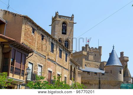 Castle Of Olite From The Village
