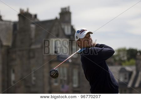 ST ANDREWS, SCOTLAND. July 18 2010: Robert KARLSSON from Sweden in action during the final round of The Open Championship   played on The Royal and Ancient Old Course