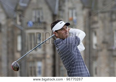 ST ANDREWS, SCOTLAND. July 18 2010: Charl SCHWARTZEL from South Africa in action during the final round of The Open Championship   played on The Royal and Ancient Old Course
