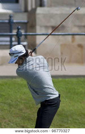 ST ANDREWS, SCOTLAND. July 17 2010: Ryo ISHIKAWA from Japan in action during the third round of The Open Championship   played on The Royal and Ancient Old Course