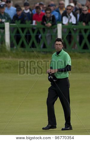 ST ANDREWS, SCOTLAND. July 17 2010: Ross FISHER from England in action during the third round of The Open Championship   played on The Royal and Ancient Old Course
