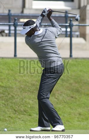 ST ANDREWS, SCOTLAND. July 17 2010: Vijay SINGH from Fiji in action during the third round of The Open Championship   played on The Royal and Ancient Old Course