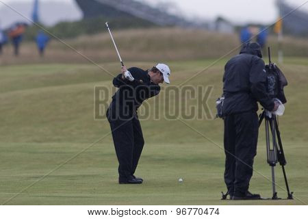 ST ANDREWS, SCOTLAND. July 16 2010: Lee WESTWOOD from England in action on the second day of The Open Championship   played on The Royal and Ancient Old Course