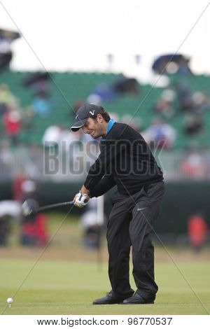 ST ANDREWS, SCOTLAND. July 15 2010: Francesco MOLINARI from Italy in action on the first day of The Open Championship   played on The Royal and Ancient Old Course