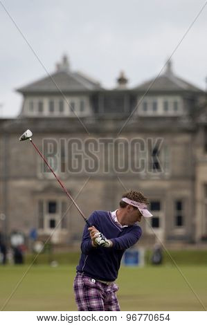 ST ANDREWS, SCOTLAND. July 15 2010: Ian POULTER from England in action on the first day of The Open Championship   played on The Royal and Ancient Old Course