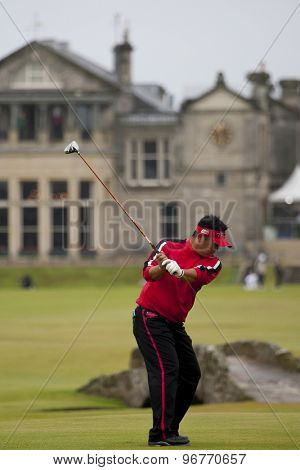 ST ANDREWS, SCOTLAND. July 15 2010: Ryuichi ODA from Japan in action on the first day of The Open Championship   played on The Royal and Ancient Old Course