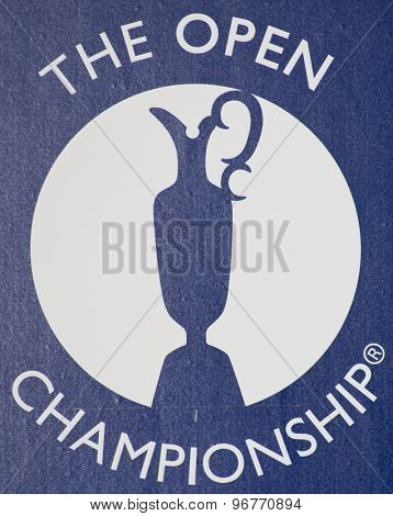 ST ANDREWS, SCOTLAND. July 14 2010:  The Official logo for The Open Championship   played on The Royal and Ancient Old Course