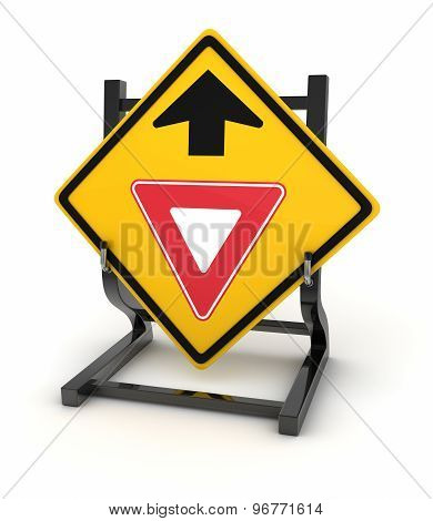 Road Sign - Give Way Ahead