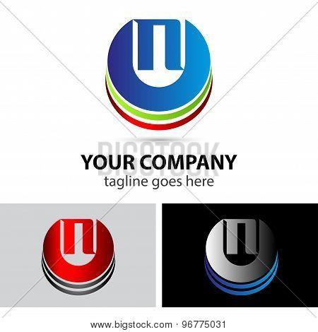 Elegant vector alphabet symbol logo letter N