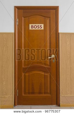 A Closed Wooden Door