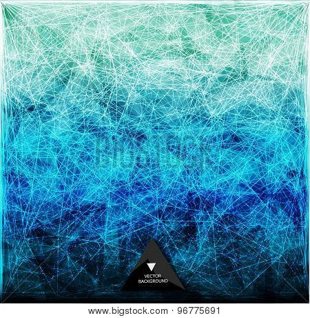 Abstract web bacground. Triangles background.