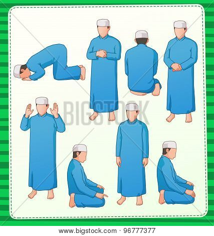 muslim praying postion