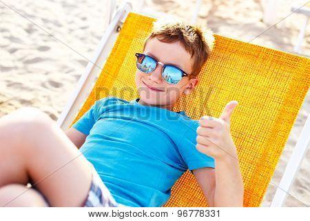 Little Boy Enjoying Holiday