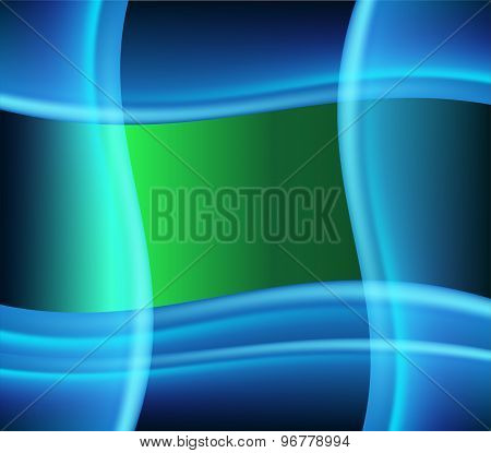 Green blue wave background