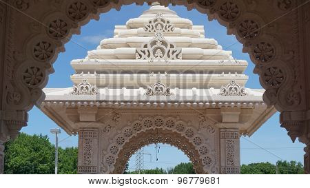 The Akshardham temple in Robbinsville, New Jersey