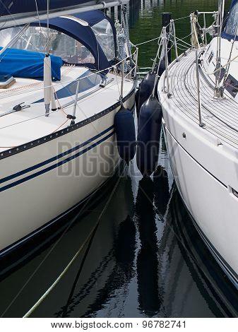 Sail Yachts In A Marina