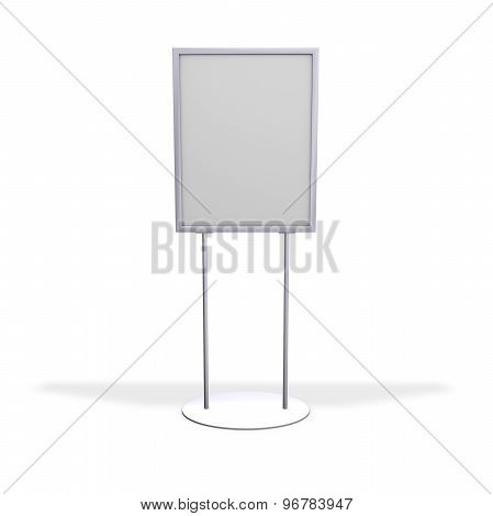 Blank Advertising Board With Copy Space, Isolated On White