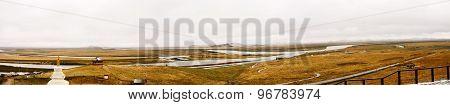 China Sichuan landscape (panorama)