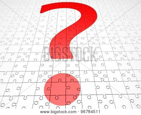 Problem Concept With Question Mark And Jigsaw Puzzles