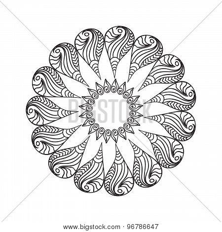 Oval Frame mandala