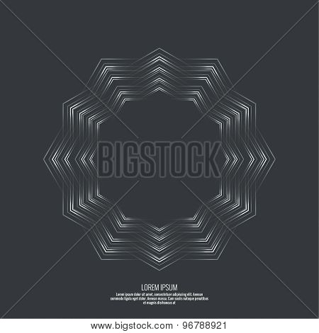 Abstract background with a hexagonal