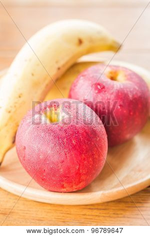 Fresh Red Gala Apples And Banana