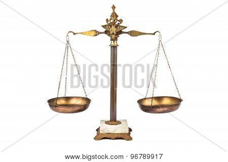 Balanced scale, a symbol of justice
